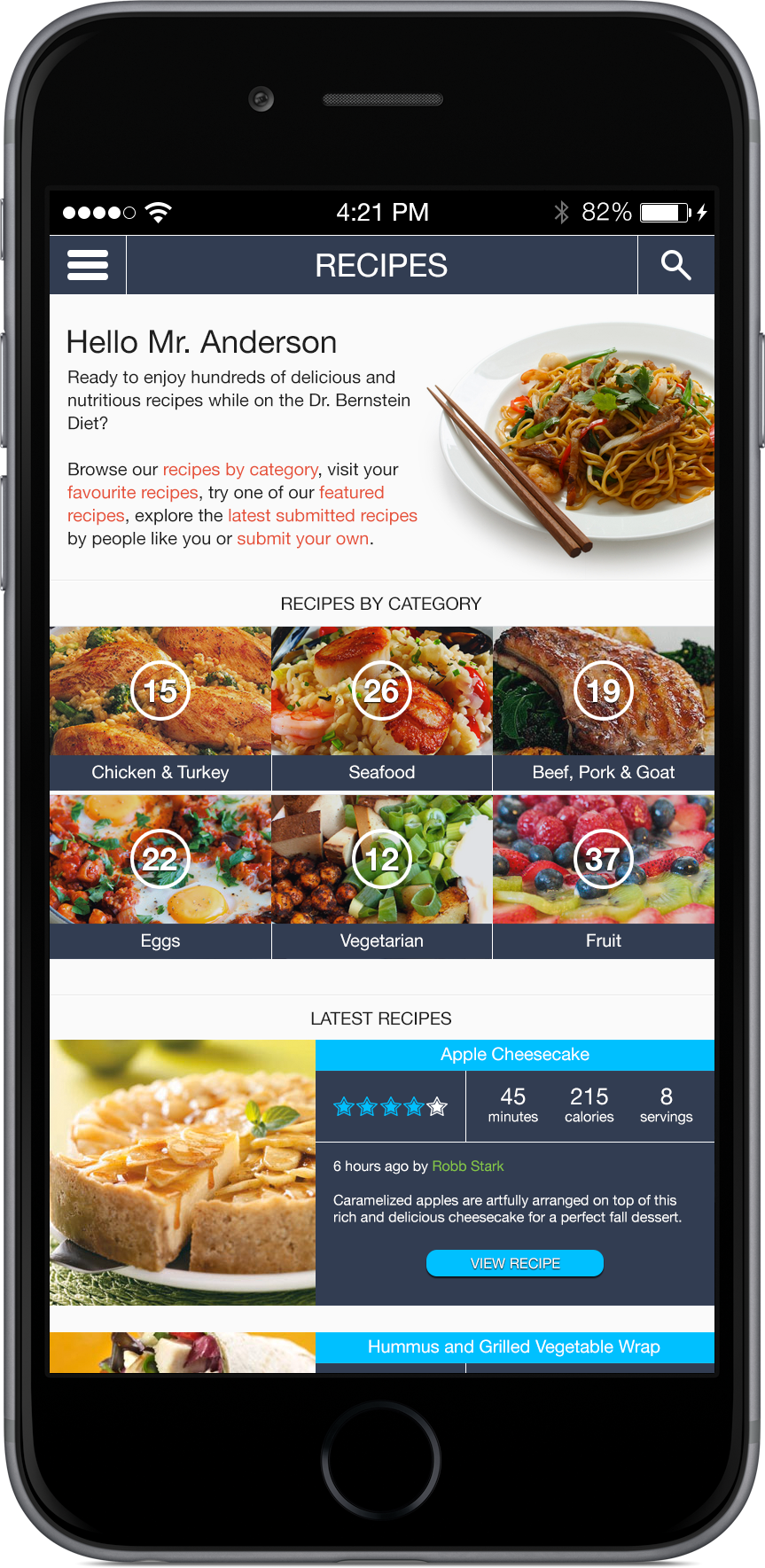 Bernstein Diet & Health Clinics – Recipes App