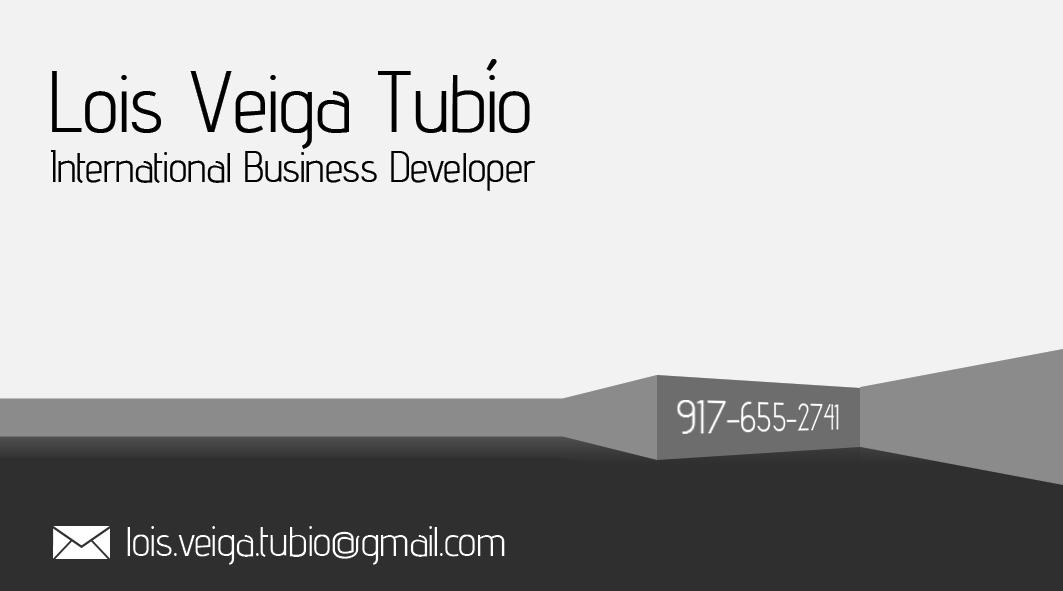Lois Veiga Tubío – Business card