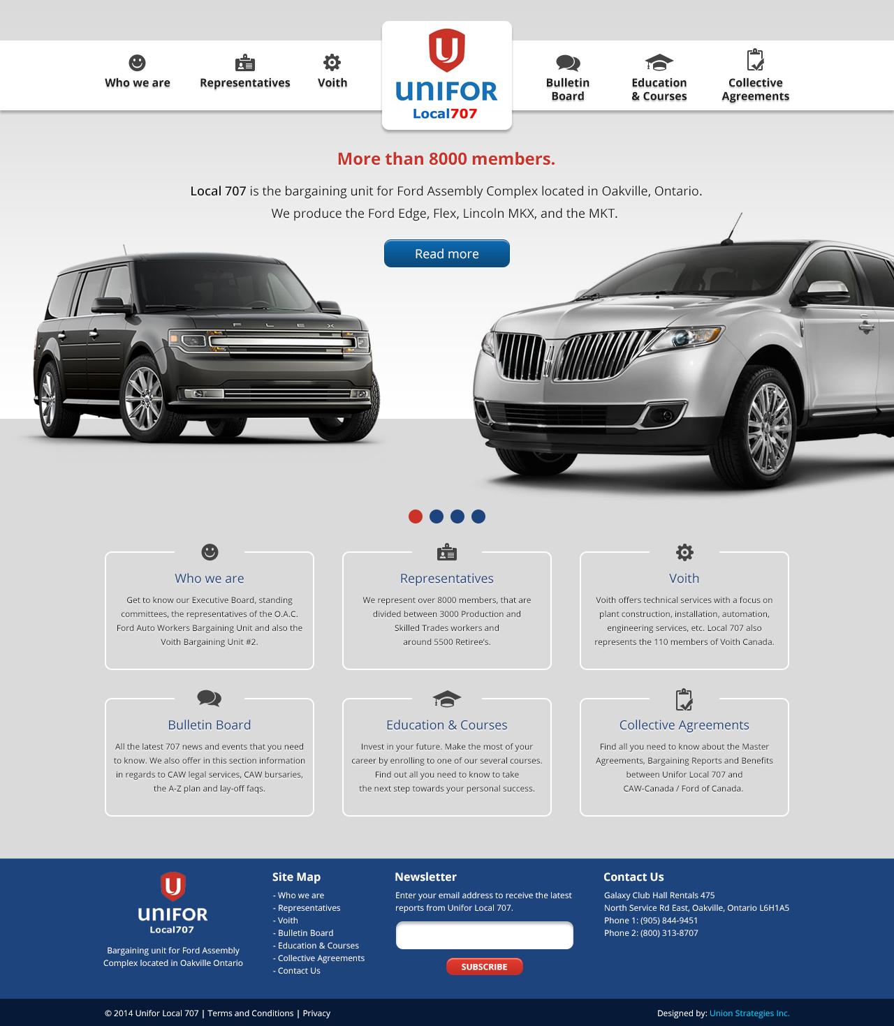 Unifor Local 707 Website