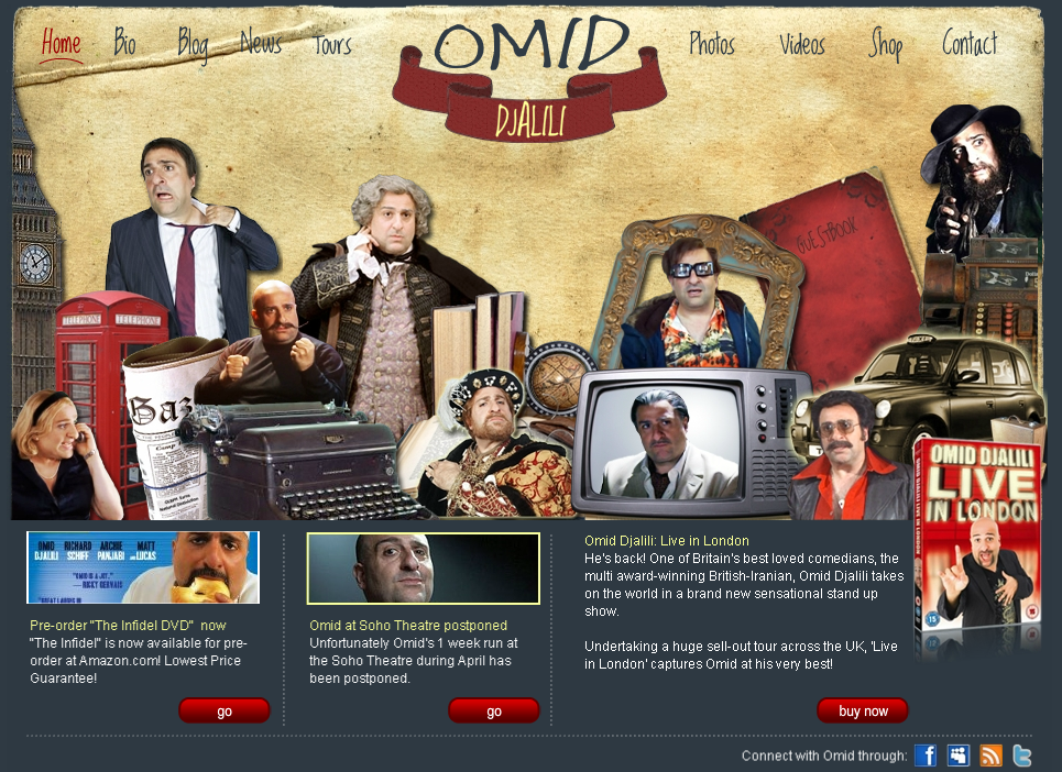 Omid Djalili – Website