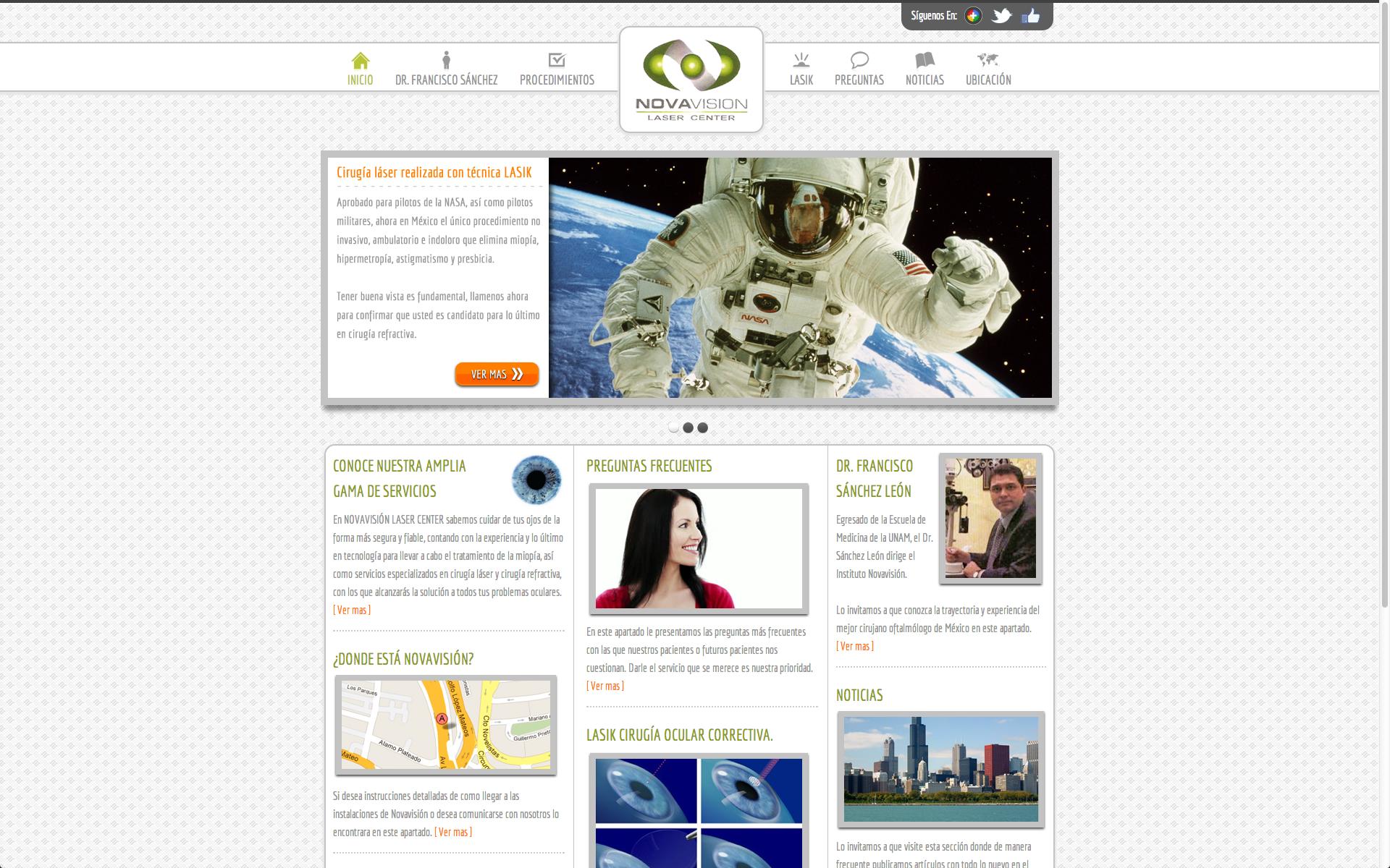 Novavisión Laser Center – Website