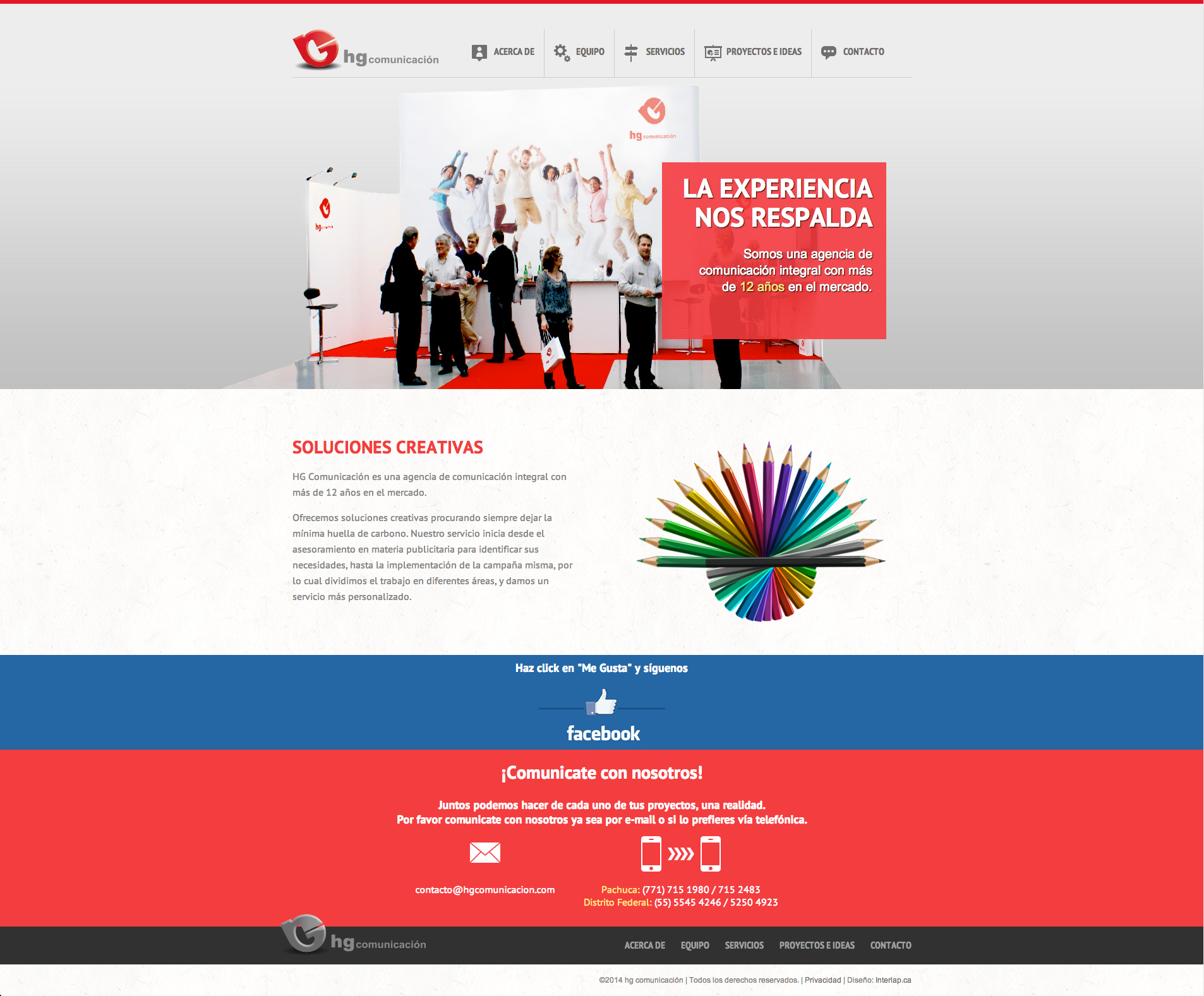 HG Comunicación – Website