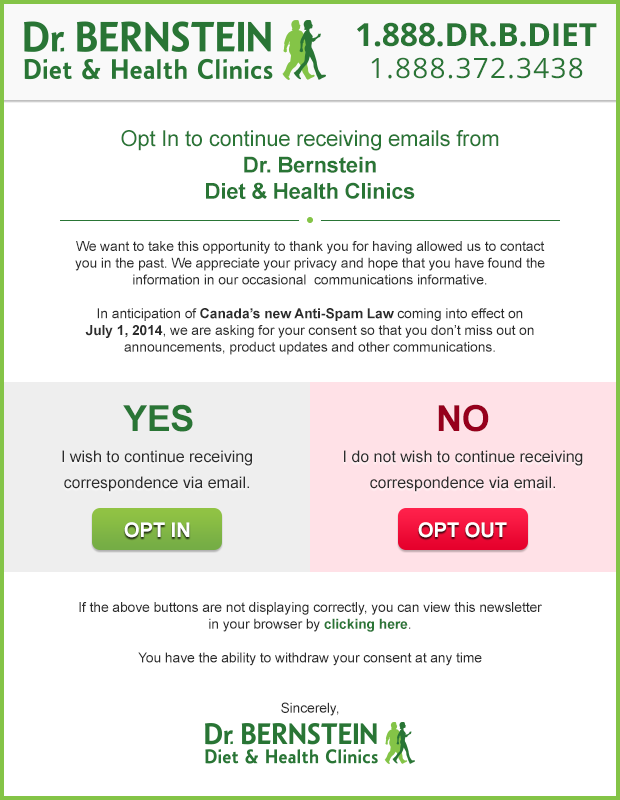 Bernstein Diet & Health Clinics – Newsletter