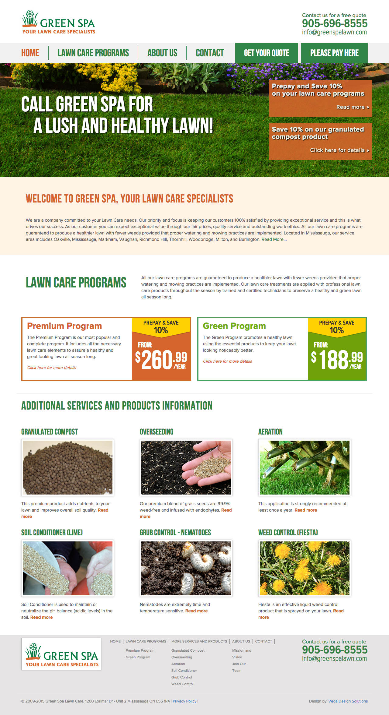 Green Spa Lawn Care – Website