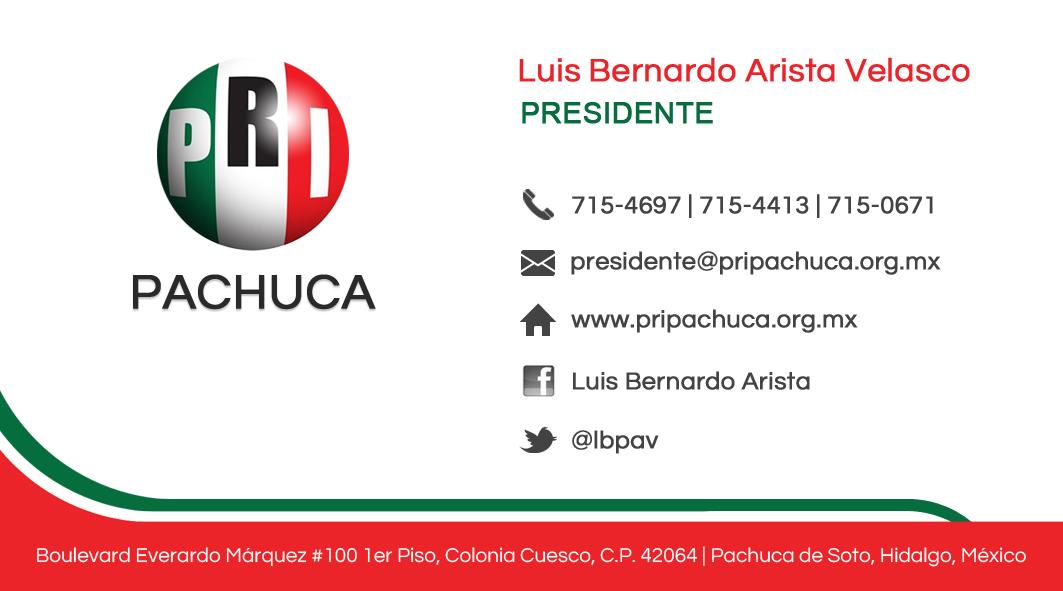 Comité PRI Pachuca – Branding
