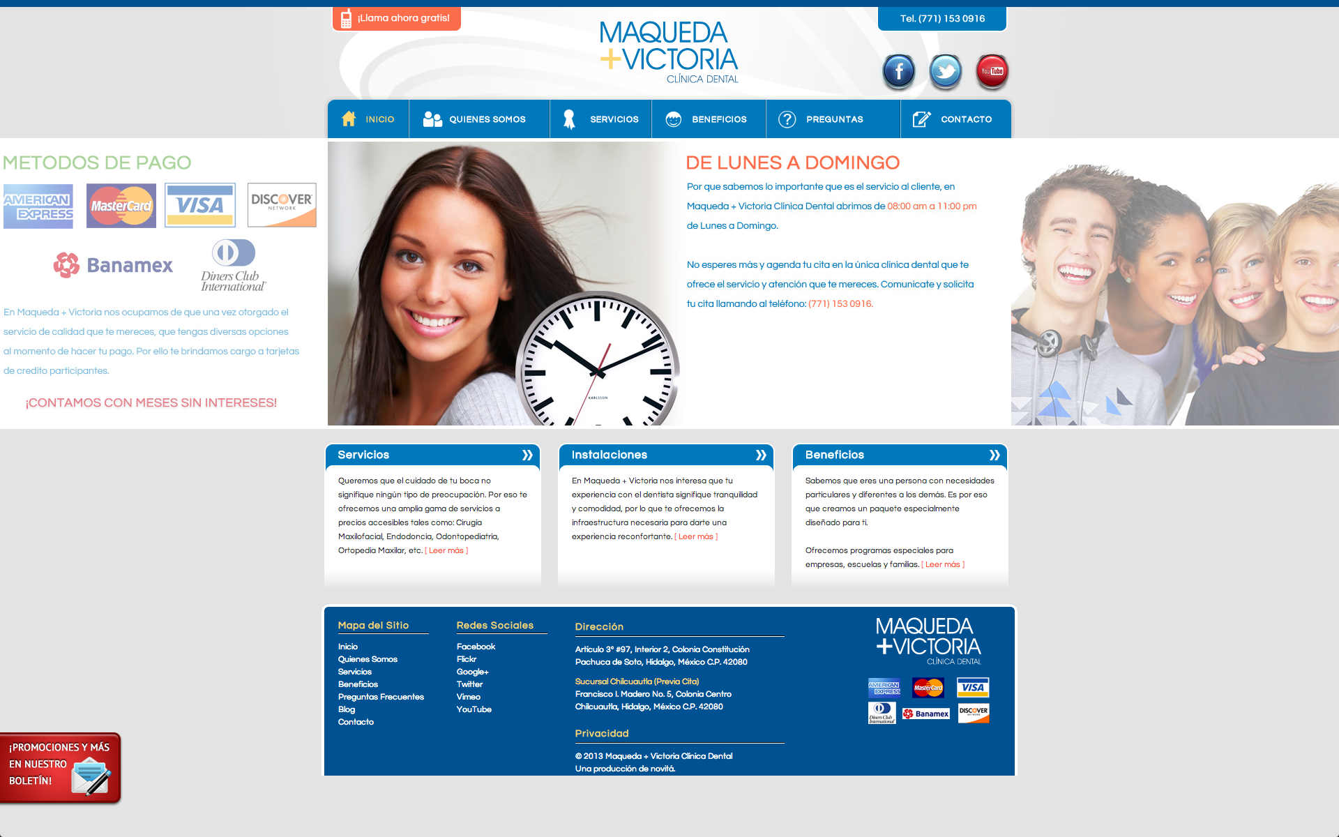 Maqueda + Victoria Clínica Dental – Website