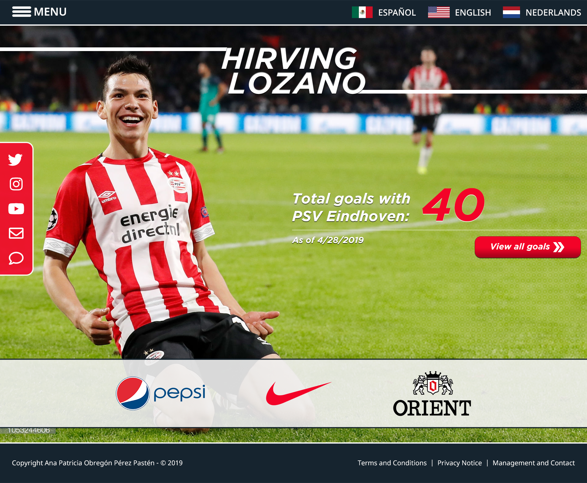 Hirving Lozano – Website Proposal