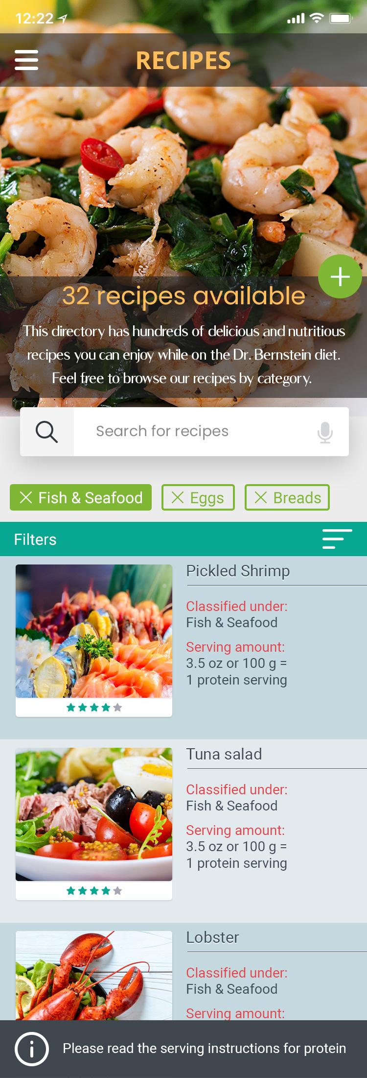 Bernstein Diet and Health Clinics – App 2020