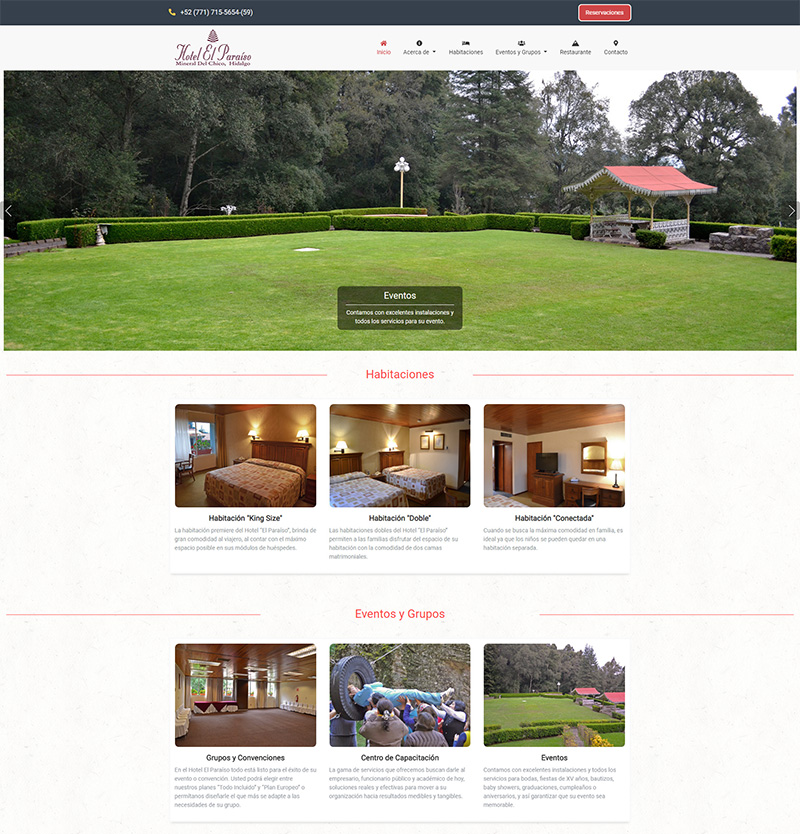 "Hotel ""El Paraíso"" – Website"