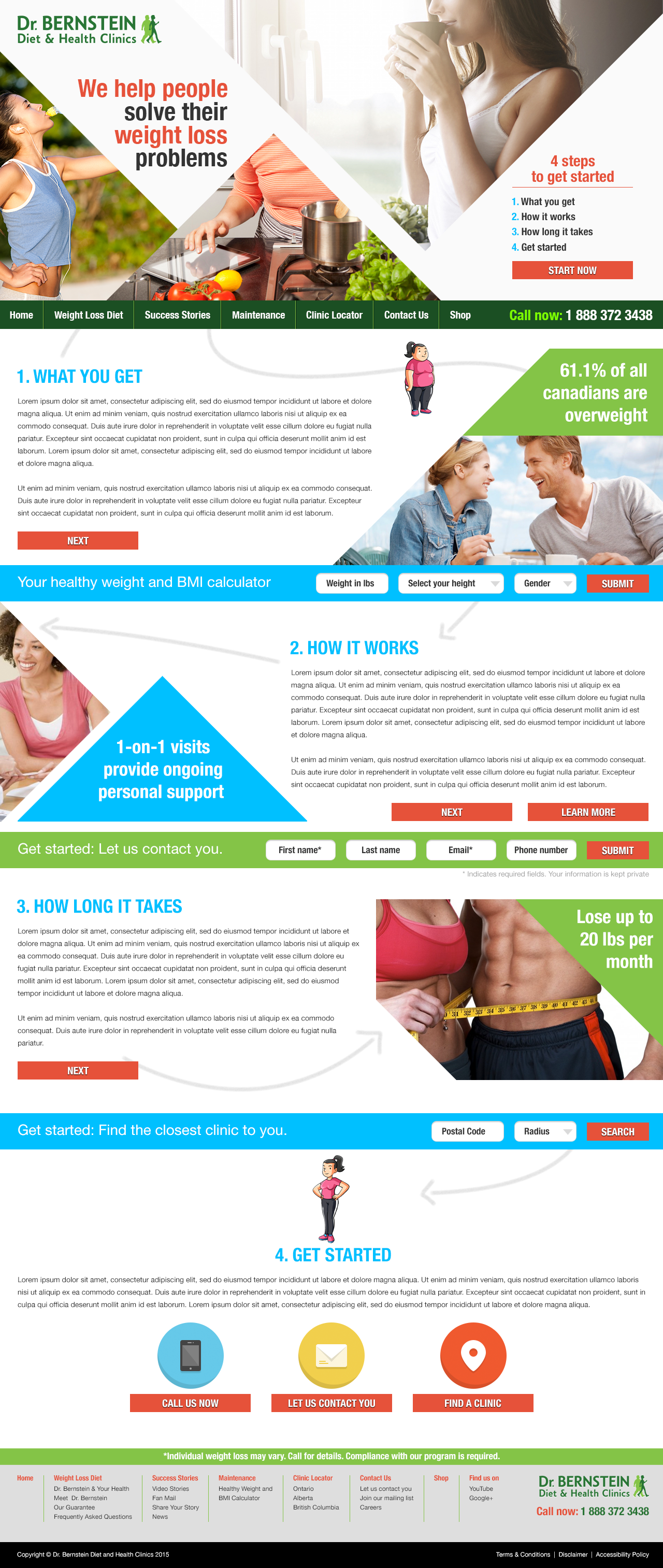 Bernstein Diet and Health Clinics – Website Redesign Proposal