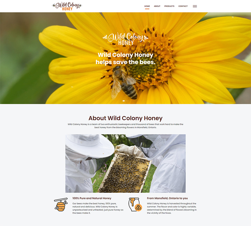 Wild Colony Honey – Website